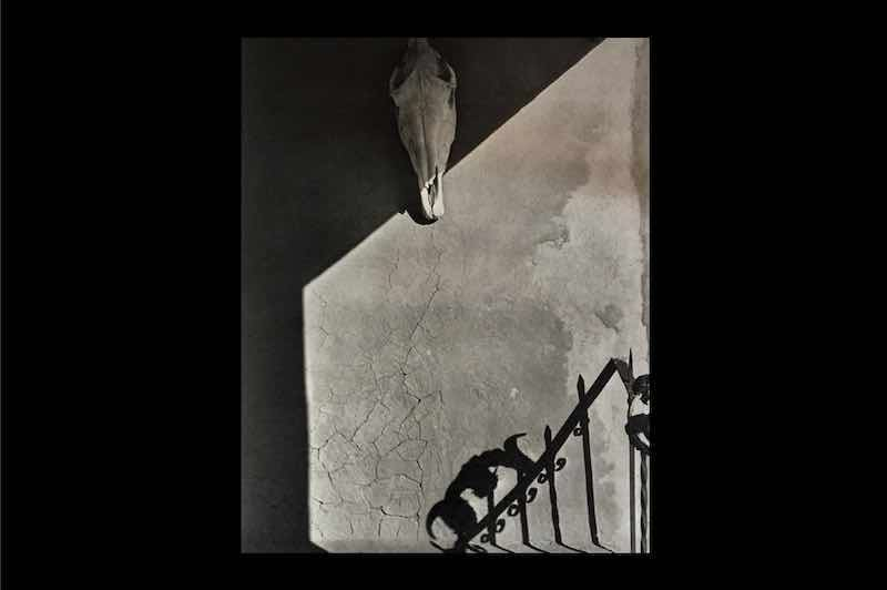 The portal at O'keeffe's Ghost Ranch ,New Mexico,1956.オキーフの家の戸口